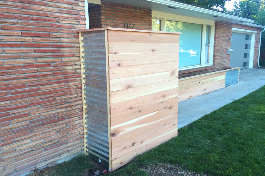 Bench Corrugated Privacy Screen