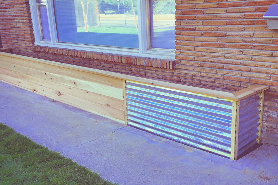 Bench Corrugated Garden Bed