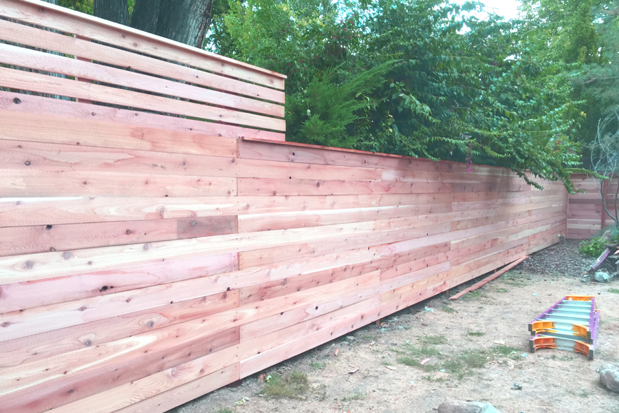 Horizontal Fence with Privacy Shade