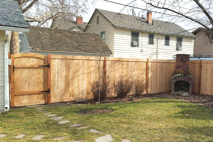North End Picture Frame Fence